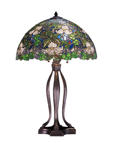 "Meyda Lighting 52172 30""H Trillium & Violet Table Lamp"