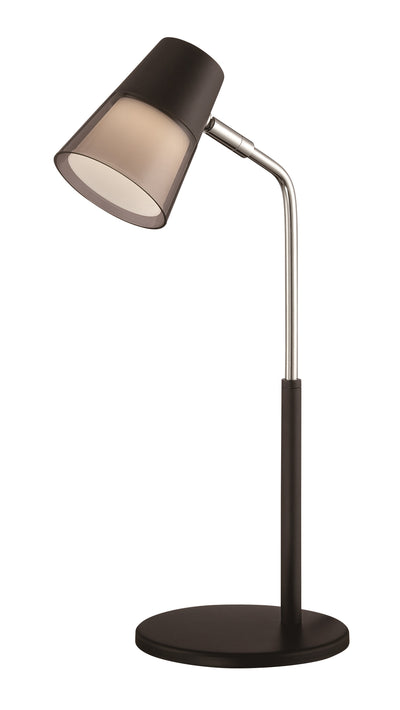 Nuvo Lighting 57/032 LED Desk Lamp 3W 4000k; 200 Lumen Black Finish  Black