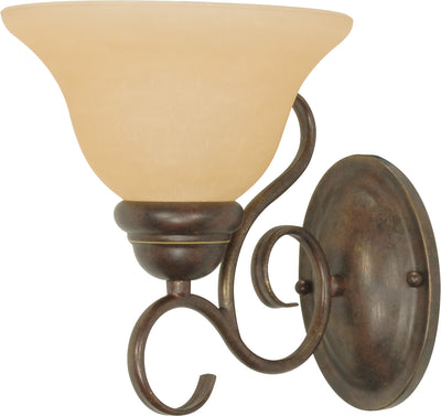 Nuvo Lighting 60/1032 Castillo 1 Light 7 1/4 Inch Wall Mount Sconce Fixture with Champagne Linen Washed Glass