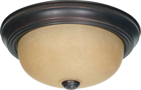 Nuvo Lighting 60/1255 2 Light 11 Inch Flush Mount with Champagne Linen Washed Glass