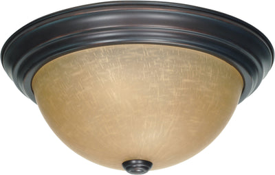 Nuvo Lighting 60/1256 2 Light 13 Inch Flush Mount with Champagne Linen Washed Glass