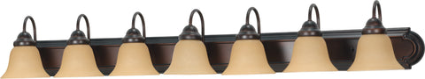 Nuvo Lighting 60/1268 Ballerina 7 Light 48 Inch Vanity with Champagne Linen Washed Glass