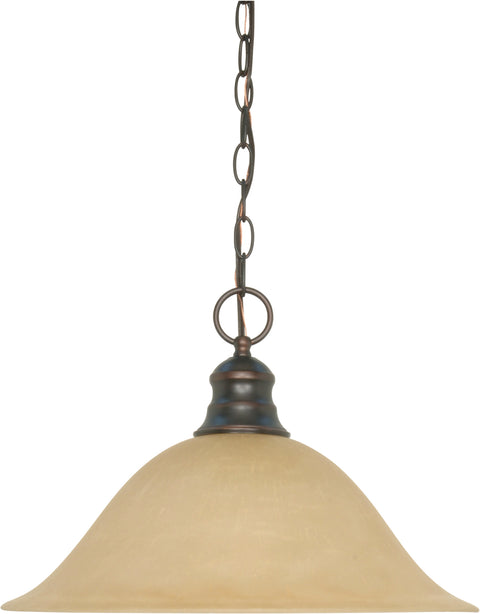 Nuvo Lighting 60/1276 1 Light 16 Inch Pendant with Champagne Linen Washed Glass