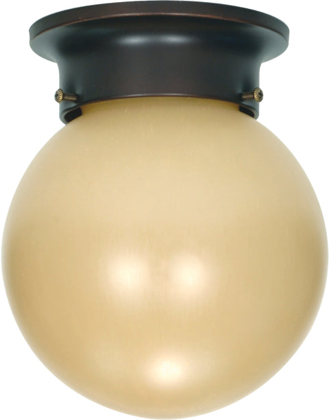 Nuvo Lighting 60/1279 1 Light 6 Inch Ceiling Mount with Champagne Linen Washed Glass