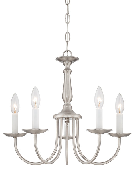 Nuvo Lighting 60/1298 5 Light 18 Inch Chandelier with Candlesticks