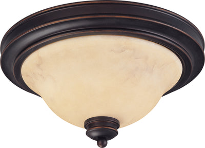 Nuvo Lighting 60/1406 ANASTASIA 2light 13 Inch FLUSH FIXTRE COPPER ESPRESO/HONEY MARBLE GL