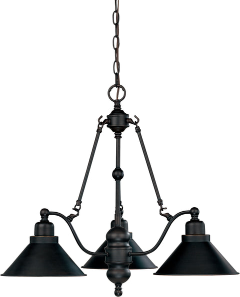 Nuvo Lighting 60/1701 Bridgeview 3 Light 26 Inch Chandelier