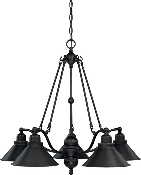 Nuvo Lighting 60/1702 Bridgeview 5 Light 30 Inch Chandelier
