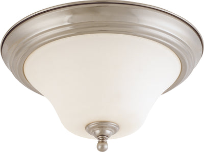 Nuvo Lighting 60/1825 Dupont 2 Light 13 Inch Flush Mount with Satin White Glass