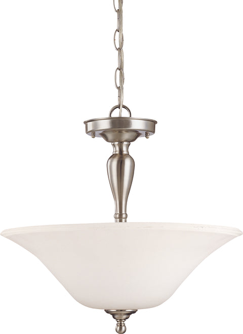 Nuvo Lighting 60/1827 Dupont 3 Light Semi Flush with Satin White Glass