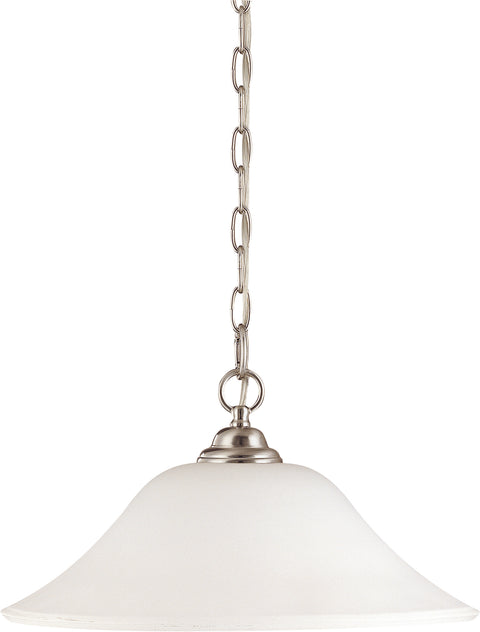 Nuvo Lighting 60/1829 Dupont 1 Light 16 Inch Hanging Dome with Satin White Glass