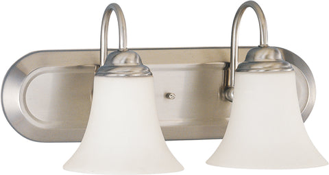 Nuvo Lighting 60/1833 Dupont 2 Light Vanity with Satin White Glass