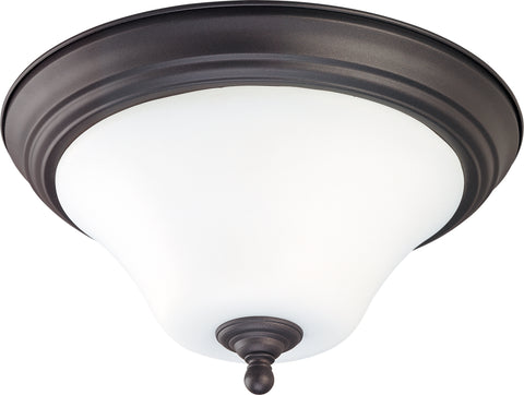 Nuvo Lighting 60/1844 Dupont 1 Light 11 Inch Flush Mount with Satin White Glass