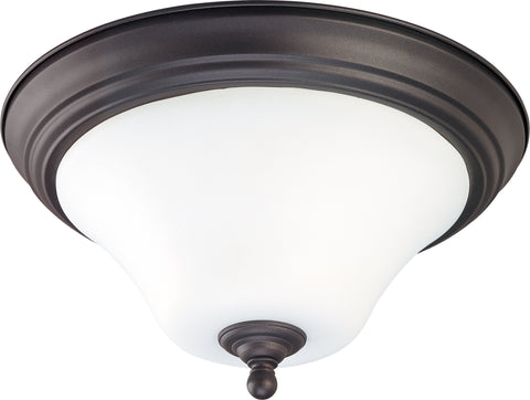 Nuvo Lighting 60/1846 Dupont 2 Light 15 Inch Flush Mount with Satin White Glass