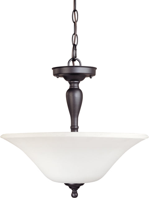 Nuvo Lighting 60/1847 Dupont 3 Light Semi Flush with Satin White Glass