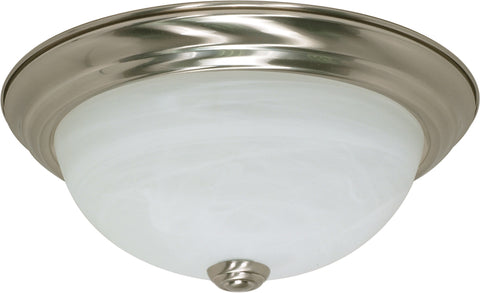 Nuvo Lighting 60/197 2 Light 11 Inch Flush Mount Alabaster Glass