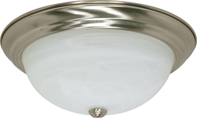 Nuvo Lighting 60/199 3 Light 15 Inch Flush Mount Alabaster Glass
