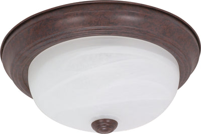 Nuvo Lighting 60/206 2 Light 13 Inch Flush Mount Alabaster Glass