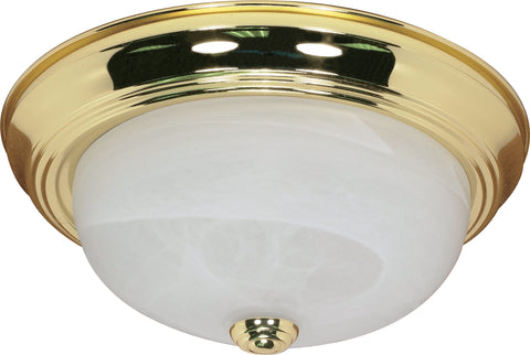 Nuvo Lighting 60/214 2 Light 13 Inch Flush Mount Alabaster Glass