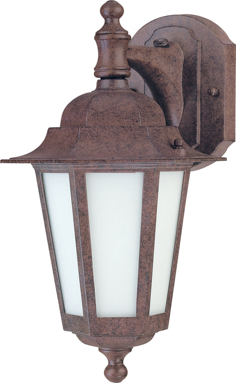 Nuvo Lighting 60/2205 CORNERSTONE ES 1 light 13 Inch ARM/DN OLD BRONZE/FROSTED GLASS