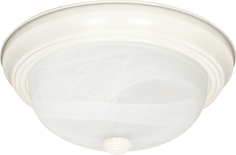 Nuvo Lighting 60/223 3 Light 15 Inch Flush Mount Alabaster Glass