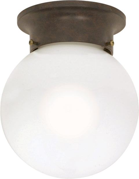 Nuvo Lighting 60/247 1 Light 6 Inch Ceiling Mount White Ball