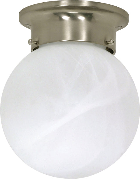 Nuvo Lighting 60/257 1 Light 6 Inch Ceiling Mount Alabaster Ball