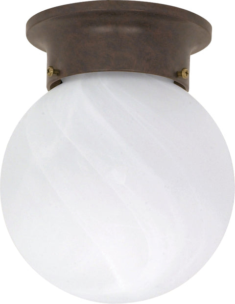 Nuvo Lighting 60/259 1 Light 6 Inch Ceiling Mount Alabaster Ball