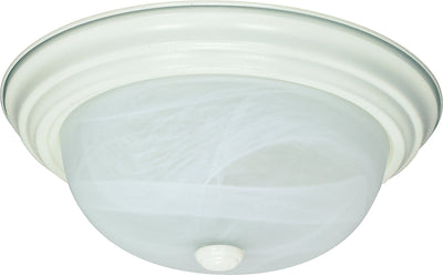 Nuvo Lighting 60/2628 2 LIGHT ES 11 Inch FLUSH MOUNT TEXTURED WHITE/ALABASTER GLASS
