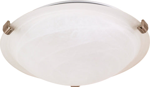 Nuvo Lighting 60/271 2 Light 16 Inch Flush Mount Tri Clip with Alabaster Glass