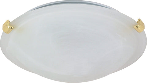 Nuvo Lighting 60/275 2 Light 16 Inch Flush Mount Tri Clip with Alabaster Glass