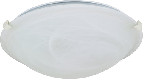 Nuvo Lighting 60/277 2 Light 16 Inch Flush Mount Tri Clip with Alabaster Glass