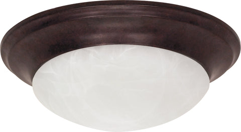 Nuvo Lighting 60/280 1 Light 12 Inch Flush Mount Twist and Lock with Alabaster Glass