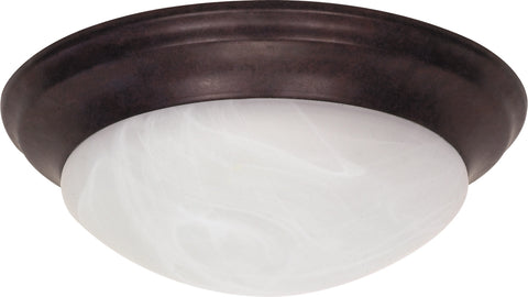 Nuvo Lighting 60/281 2 Light 14 Inch Flush Mount Twist and Lock with Alabaster Glass