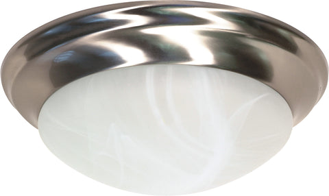 Nuvo Lighting 60/284 2 Light 14 Inch Flush Mount Twist and Lock with Alabaster Glass