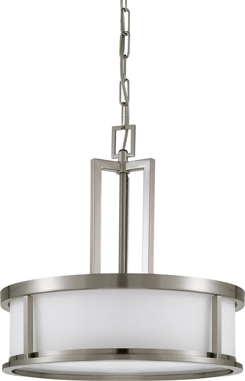 Nuvo Lighting 60/2857 Odeon 4 Light Pendant with Satin White Glass