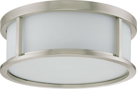 Nuvo Lighting 60/2862 Odeon 3 Light 15 Inch Flush Dome with Satin White Glass