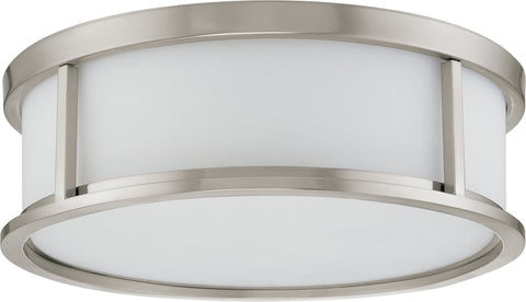 Nuvo Lighting 60/2864 Odeon 3 Light 17 Inch Flush Dome with Satin White Glass