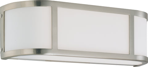 Nuvo Lighting 60/2871 Odeon 2 Light Wall Mount Sconce Sconce with Satin White Glass