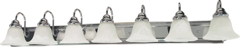 Nuvo Lighting 60/290 Ballerina 7 Light 48 Inch Vanity with Alabaster Glass Bell Shades