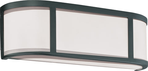 Nuvo Lighting 60/2972 Odeon 2 Light Wall Mount Sconce Sconce with Satin White Glass
