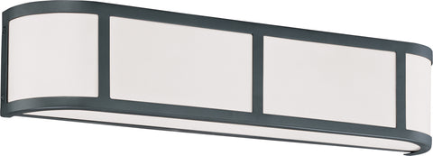 Nuvo Lighting 60/2973 Odeon 3 Light Wall Mount Sconce Sconce with Satin White Glass