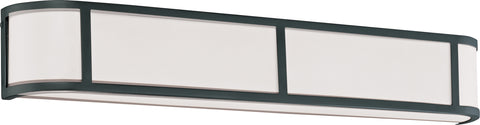 Nuvo Lighting 60/2974 Odeon 4 Light Wall Mount Sconce Sconce with Satin White Glass