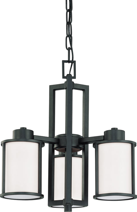 Nuvo Lighting 60/2976 Odeon 3 Light (convertible up/down) Chandelier with Satin White Glass