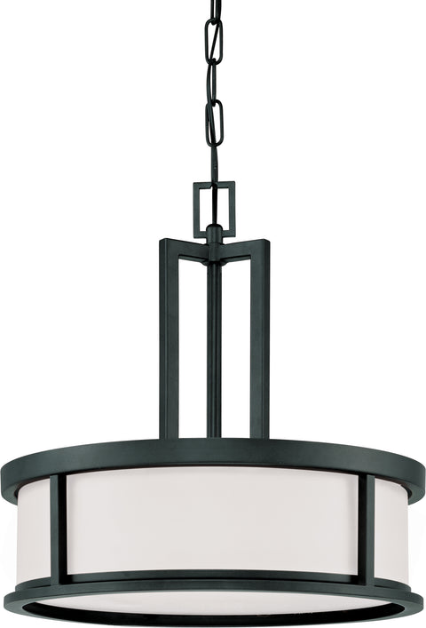 Nuvo Lighting 60/2978 Odeon 4 Light Pendant with Satin White Glass