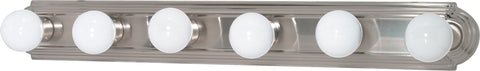 Nuvo Lighting 60/302 6 Light 36 Inch Vanity Racetrack Style