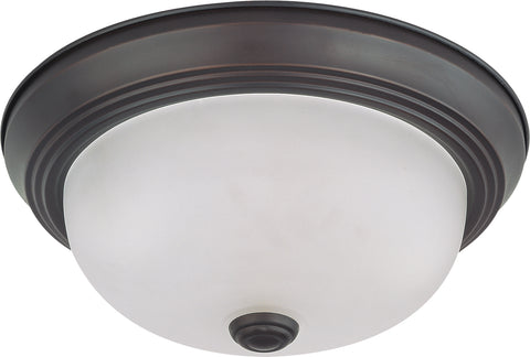 Nuvo Lighting 60/3145 2 Light 11 Inch Flush Mount with Frosted White Glass