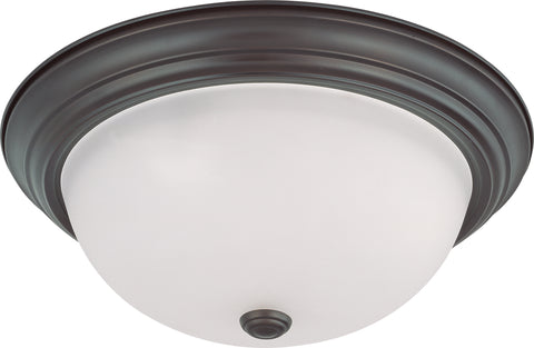 Nuvo Lighting 60/3147 3 Light 15 Inch Flush Mount with Frosted White Glass