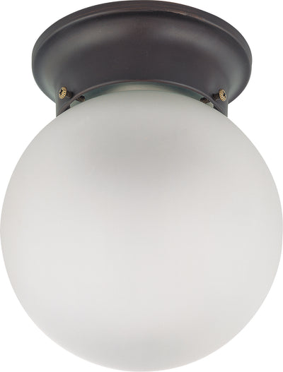 Nuvo Lighting 60/3154 1 LIGHT 6 Inch BALL CEILING  MAHOGANY BRONZE/FROSTED GLASS