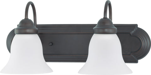 Nuvo Lighting 60/3161 Ballerina 2 Light 18 Inch Vanity with Frosted White Glass